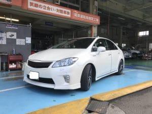 トヨタ SAIにクリスタルキーパーとシリコンガラスコーティング(全面)を施工させて頂きました。